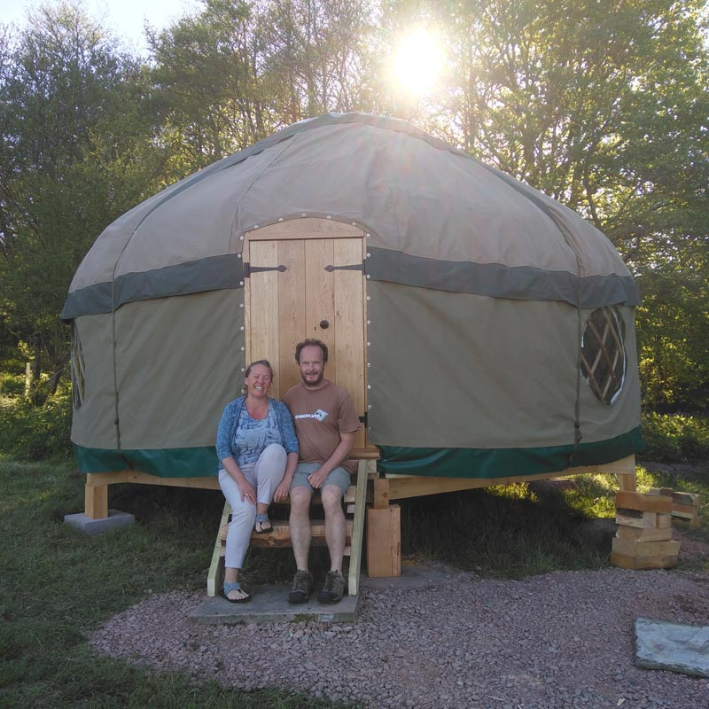 A bespoke yurt by Millie's Yurt