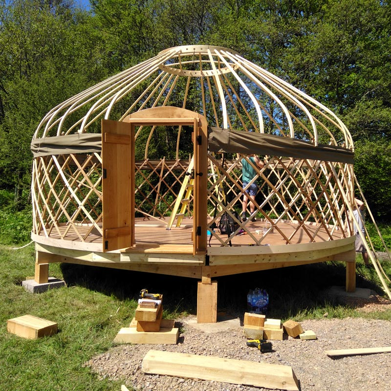 Creating a yurt frame