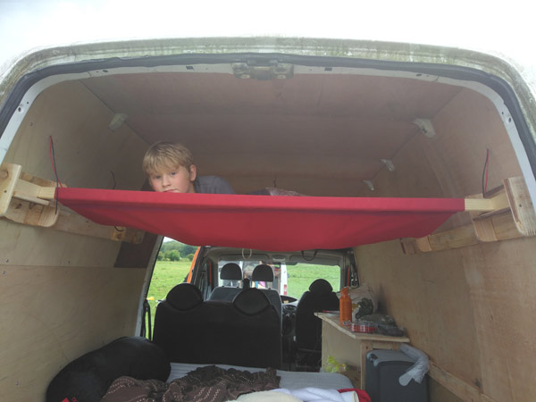 Bespoke extra bed for a campervan by Millie's Yurts