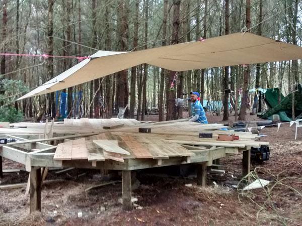 Creating the yurt base