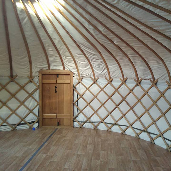 Inside a Millie's Yurt