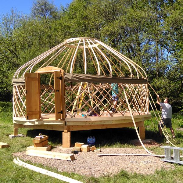 Installing a large yurt