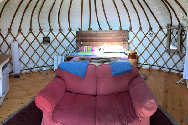 Stay in a Millie's Yurt at Wynards Farm Dorset