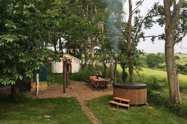 Walnut Farm yurt glamping, Dorset